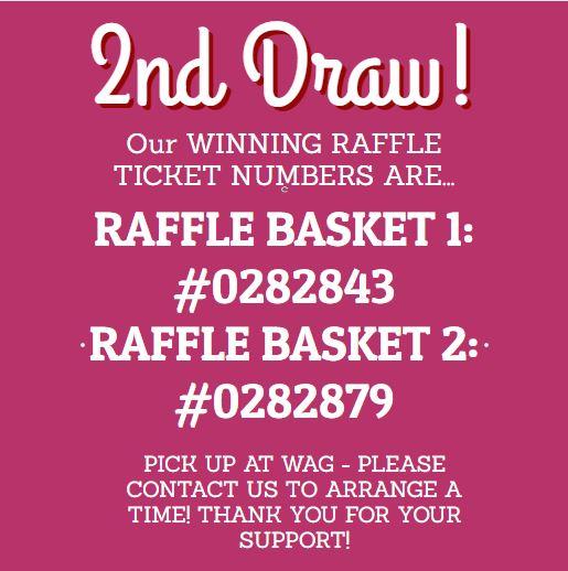 creekbread raffle ticket winners 2nd draw
